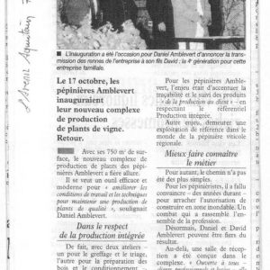 Avenir Aquitain 7 nov 2003